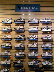 running shoe shopping